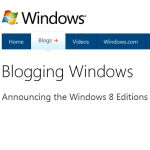 Announcing the Windows 8 Editions
